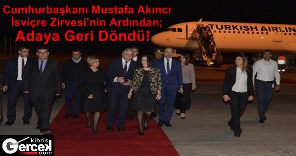 Cumhurbaşkanı Akıncı, Adaya Döndü!