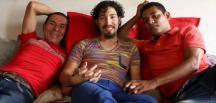 Üç erkek resmen birbiriyle evlendi!