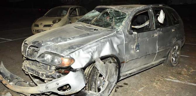 Arabayı Çaldı Alkol Aldı Kaza Yaptı