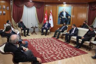 Başbakan Ersan Saner Kar-iş Başkanı Fuat Topaloğlu'nu Kabul Etti
