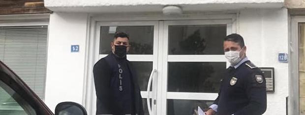 Ev Karantinasında Kalanları Polis Denetliyor