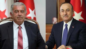 Cumhuriyet Meclisi Başkanı Önder Sennaroğlu,Türkiye Cumhuriyeti Dışişleri Bakanı Mevlüt Çavuşoğlu'nu Heyet İle Kabul Etti.
