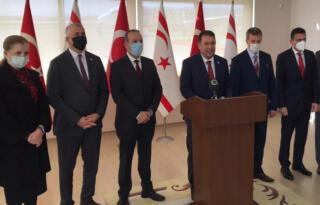 Başbakan Ersan Saner, Yurda Döndü Ercan Havaalanında Açıklamalarda Bulundu