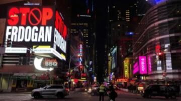 """New York'taki """"Stop Erdoğan"""" İlanına Soruşturma!"""