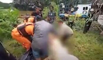 Endonezya'nın Borneo Adasında 8 Yaşındaki Çocuğu Dev Timsah Yuttu!