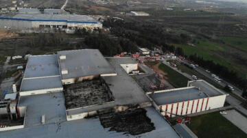 Türkiye Tuzla'da Et Fabrikasında Büyük Çaplı Yangın Çıktı