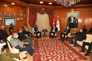 Başbakan Ersan Saner, Kıbrıs Türk Çiftçiler Birliği Başkanı Hüseyin Kelle ve Yönetim Kurulu Üyelerini Kabul Etti