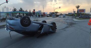 Lefkoşa'da Dr Fazıl Küçük Bulvarı Üzerinde Trafik Kazası Araç Sürücüsünün 410 Promil Alkollü Olduğu Ortaya Çıktı