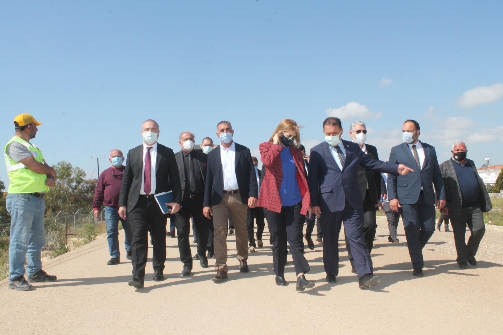 Canaltay, Başbakan Ersan Saner İle Birlikte İnşaatı Devam Eden İskele-Çayırova Duble Yolunda İncelemeler Yaptı