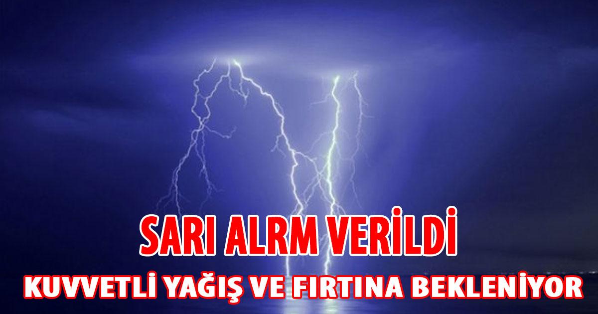 Güney Kıbrıs'ta Sarı Alarm