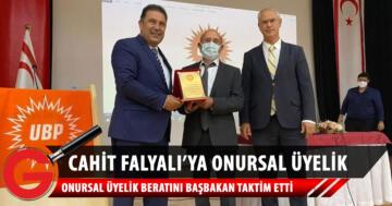 Cahit Falyalı'ya Onursal Üyelik Beratı takdim edildi