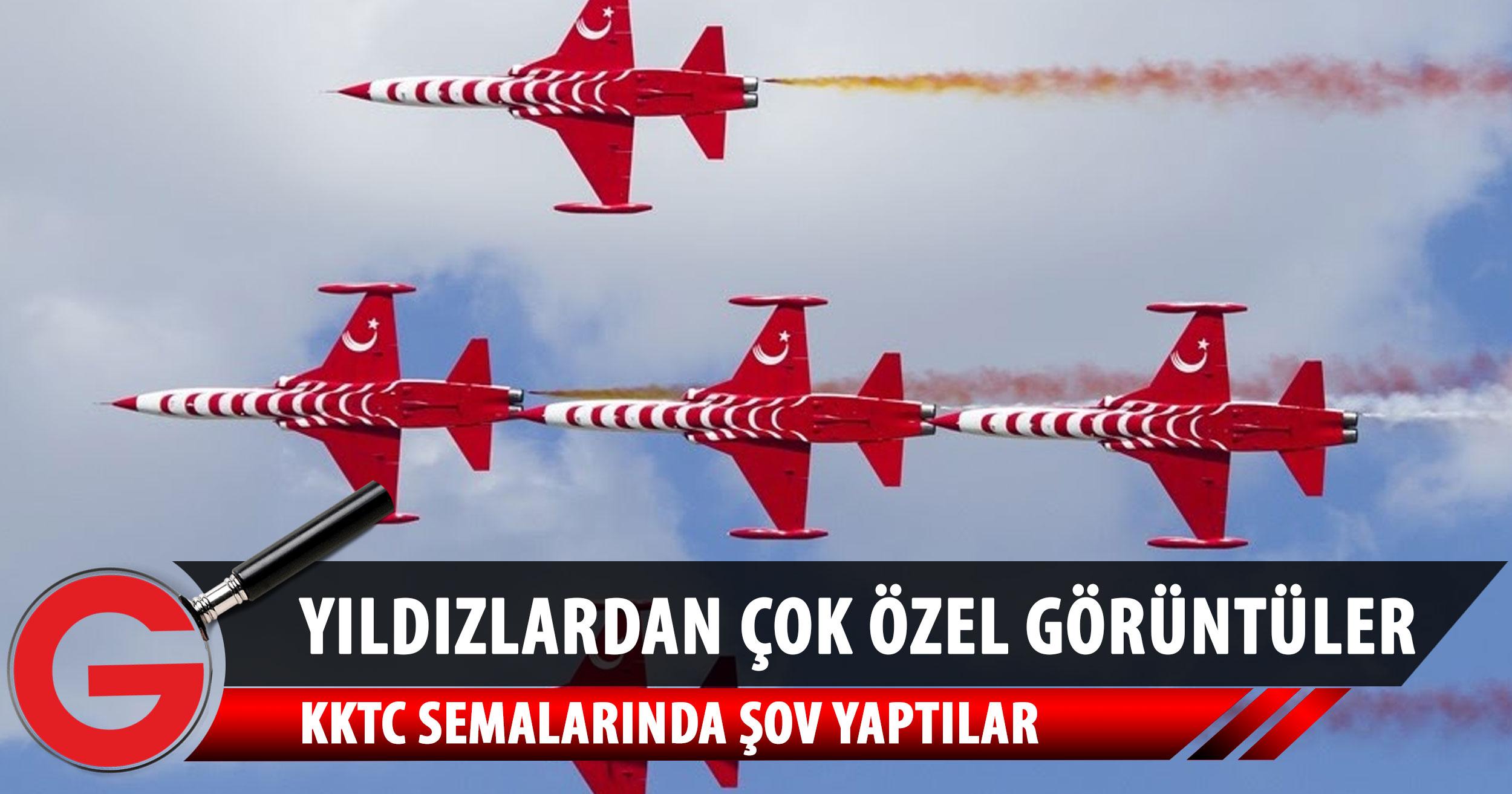 Türk Yıldızları'ndan KKTC'de gösteri uçuşu