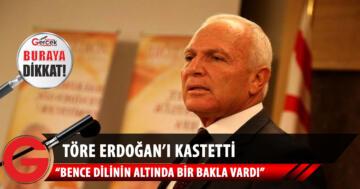 Erdoğan'ın ağzında bir bakla vardı!