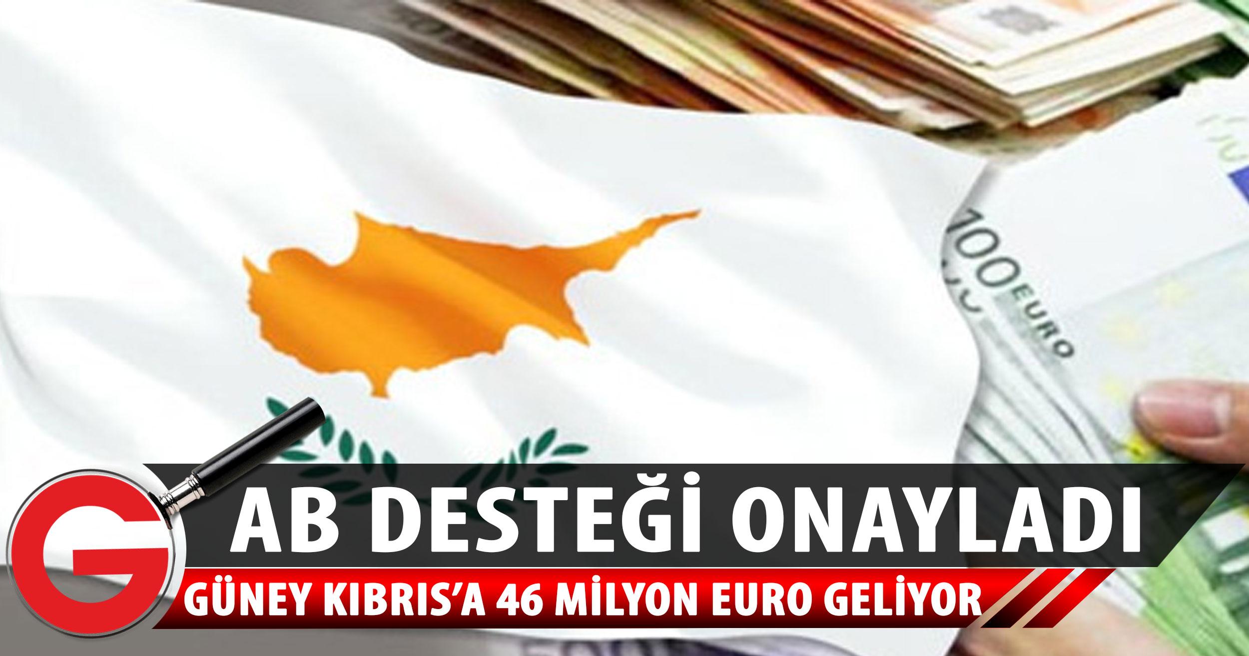 Güney Kıbrıs ekonomisine 46 milyon euroluk destek
