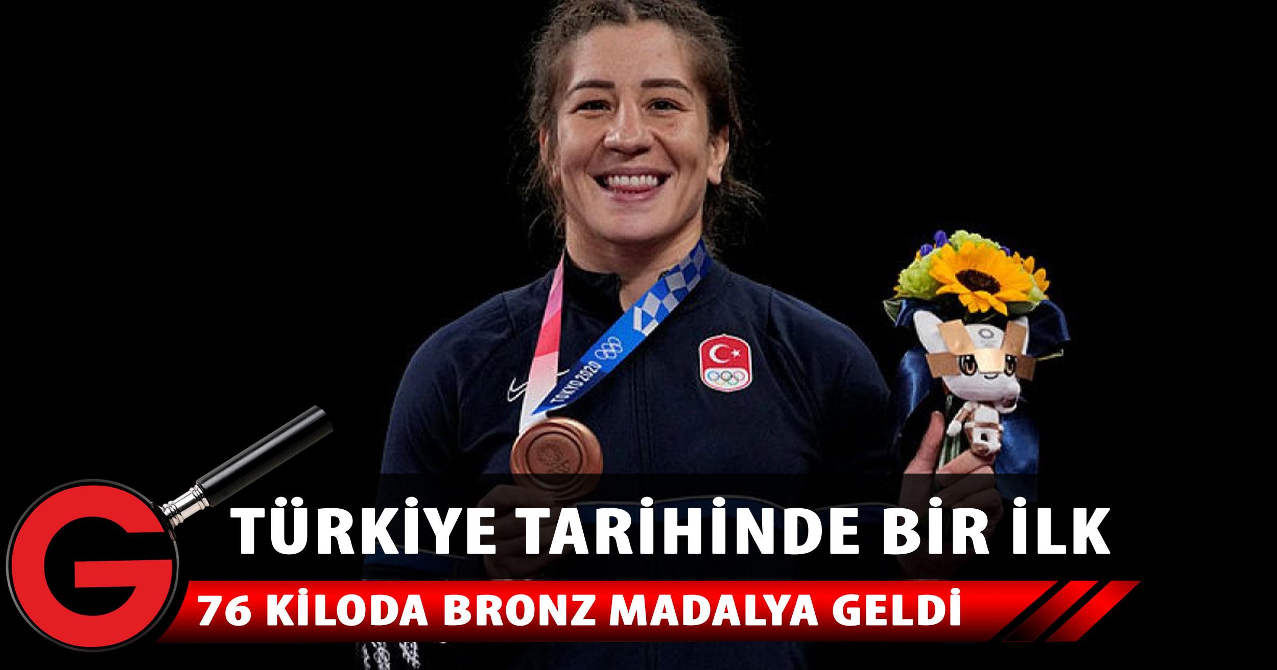Yasemin Adar, serbest stil 76 kiloda bronz madalya kazandı