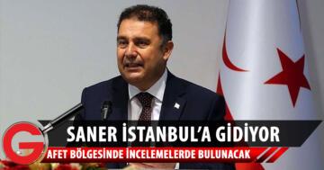 Başbakan Saner İstanbul'a Gidiyor