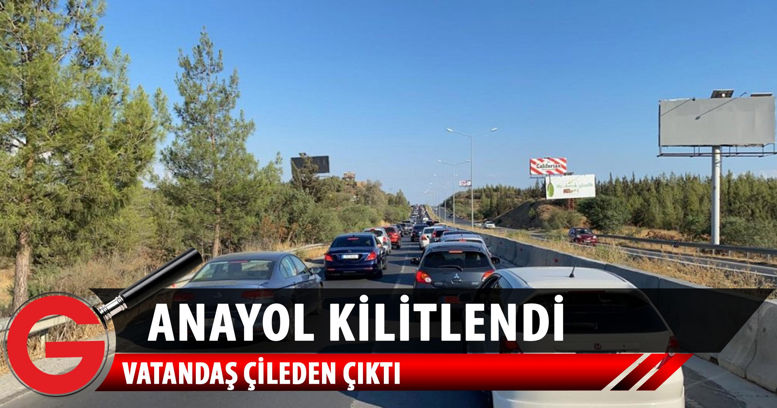 Girne-Lefkoşa Anayolu'nda ciddi yoğunluk