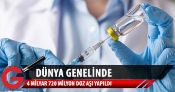 Dünya genelinde 4 milyar dozu geçkin aşı yapıldı