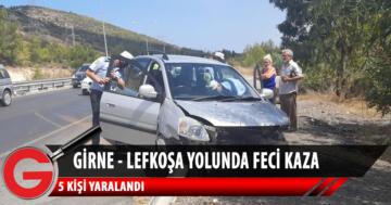 Girne- Lefkoşa yolunda feci kaza