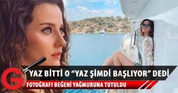 """Oyuncu İrem Helvacıoğlu, """"Yaz şimdi başlıyor"""" diyerek mayolu pozunu paylaştı"""