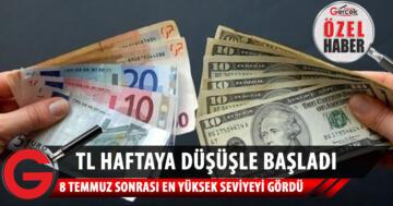 Türk Lirası haftaya düşüşle başladı