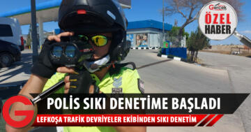 Polis, Ercan Havalimanı'nda sıkı denetim gerçekleştirdi