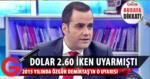 Özgür Demirtaş'ın 2015 yılında yaptığı o uyarı