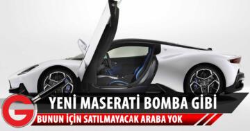 Maserati MC20'ye yılın tasarım ödülü verildi