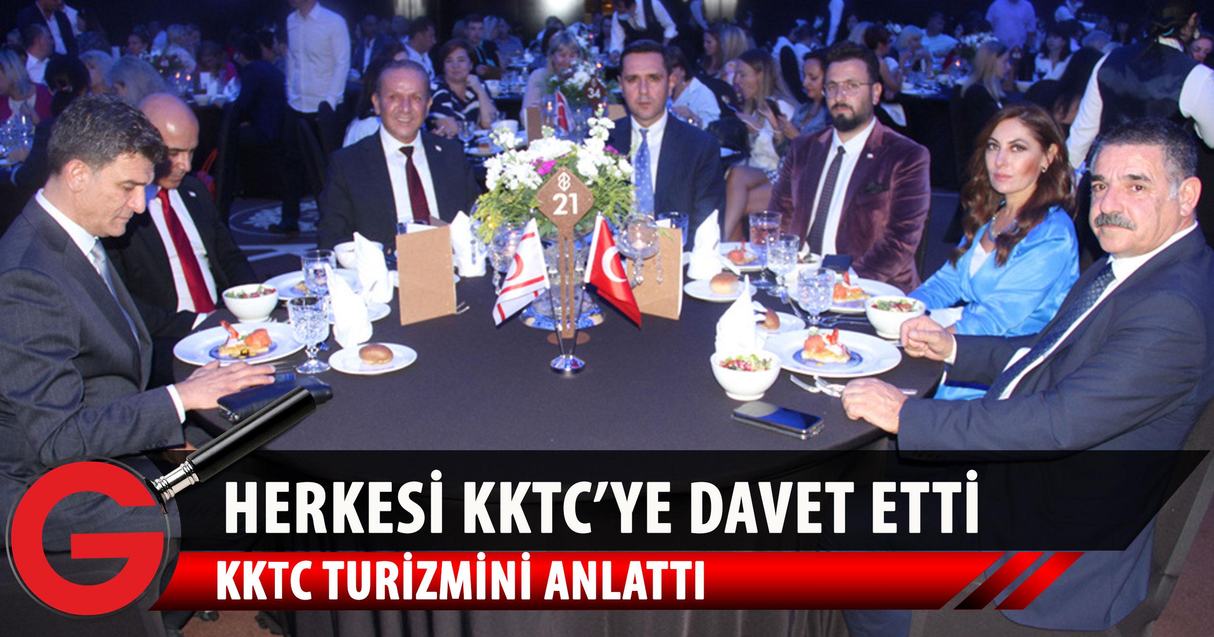 Ataoğlu: Antalya Turizm Fuarı etkinlikleri çerçevesinde gerçekleştirilen fuarın gala yemeğinde konuştu
