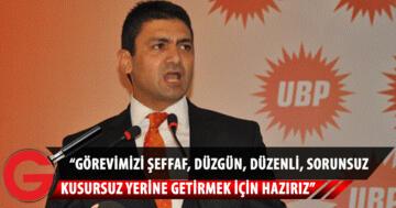 """UBP Kurultayında Divan Başkanı Atun: """"Görevimizi Şeffaf, Düzgün, Düzenli, Sorunsuz, Kusursuz Yerine Getirmek İçin Hazırız"""""""
